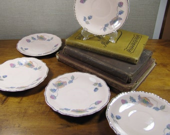 Steubenville - Rose Dawn - Small Saucers - Set of Five (5)