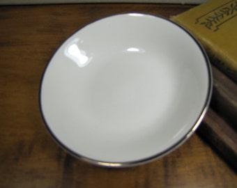 Salem English Ironstone Dessert Bowl - Silver Elegance - Made in England