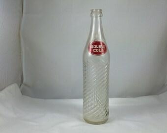 Vintage Double Cola Bottle, Collector Double Cola Bottle, Antique Bottle, Vintage Soda Bottle Vase