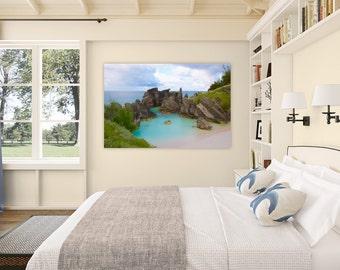 Horseshoe Bay ~ Bermuda, Canvas, Pink Sand, Tropical, Beach, Coastal, Photography, Wall Art, Home Decor, Ocean, Nautical, Artwork, Joules