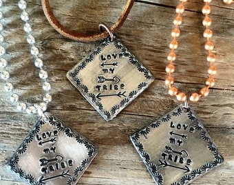 Love my tribe necklace charm necklace pendant