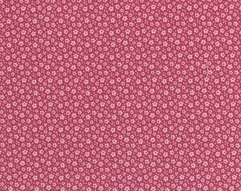 NEW - TILDA  'Sweetheart ' Ilse Carmine Red Tiny Floral 100% Cotton Fabric Fat Quarter