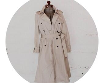 90's Beige Trench Coat