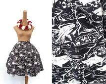 "Lola Skirt ""Shark Attack"" in a Shark Novelty Print"