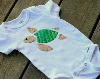 Turtle Onesie - Honu - Hawaiian Turtle - baby Boy Onesie - Baby Girl Onesie
