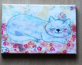 Canvas print: Sleeping cat