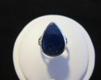Lapis Lazuli Sterling Silver Ring Size 7