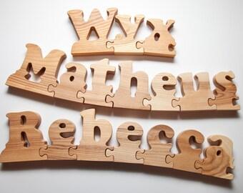 Wooden Name Puzzle Etsy Au