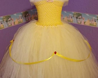 Ready to Ship- Belle Tutu Dress - Size 12 to 24 Months
