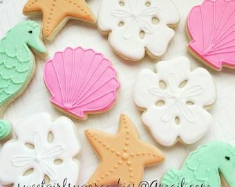 Under the sea sugar cookies(12)