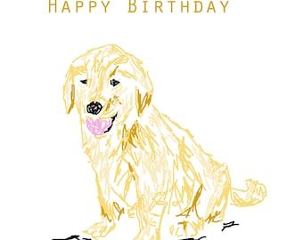 Dog Happy Birthday greetings card