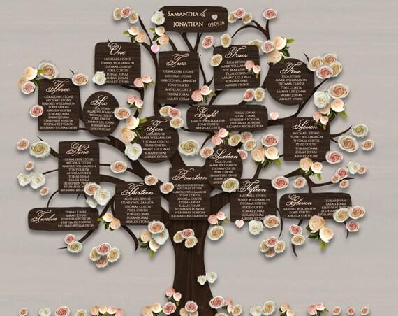 Wedding Tree Table Plan DIY Printable Tree Seating Plan 3