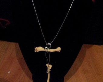 real rat bone necklace
