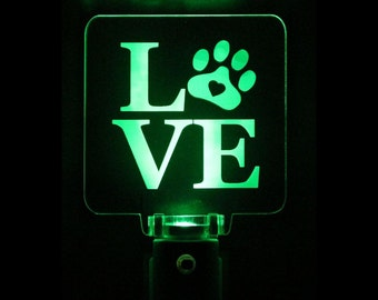Dog Puppy Love Night Light