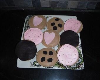 Felt cookies decoratable set foods tea time