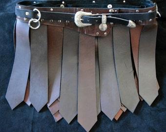 Roman Style Cowhide Kilt