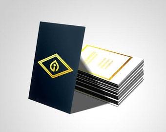 1000 Metallic Finish Business Cards