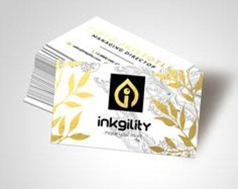 2500 Metallic Finish Business Cards