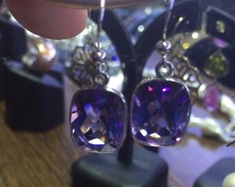 Amethyst Earrings Silver 925