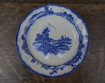 Vintage 1930's Royal Doulton NORFOLK Blue and White Tea Plate