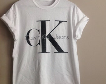 Old school Ck1 calvin klein top t-shirt urban swag indie festival