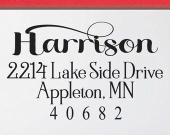 Self inking return address stamp, self inking return address stamp, personalized self inking stamp, Address stamp - 2K