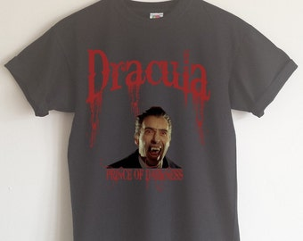 Christopher Lee Dracula T-Shirt, ECO FRIENDLY PRINT, S - 2XL, Various Colours