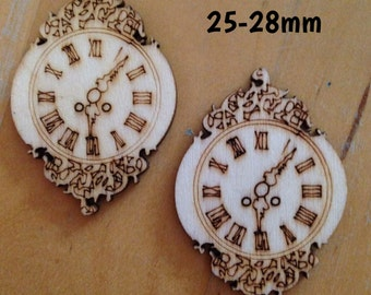25mm-28mm wooden clock plugs for stretched ears