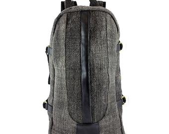 Hemp backpack Natural Black