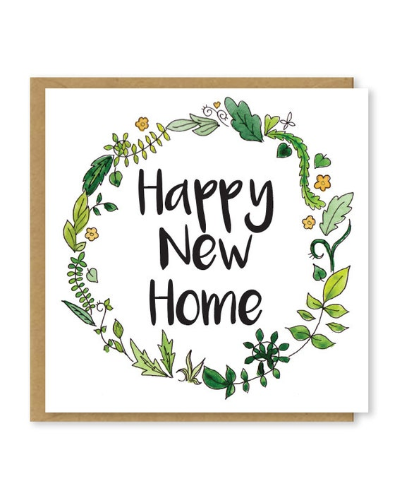 Design Your Own New Home Cards New Home Card Floral Happy