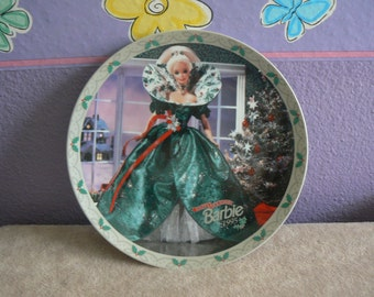 "BARBIE Limited Edition Plate by Enesco  ~ ""Happy Holidays Barbie""  ~ 1995"
