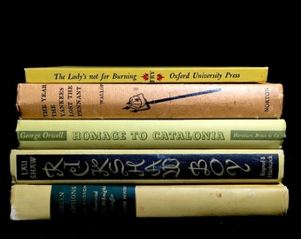 Vintage Book Collection in Shades of Yellow