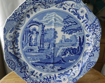 """COPELAND SPODE 1930'S Italian Pattern Sectional Plate 9.5"""" DiaX"""