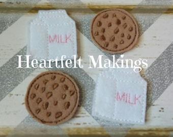 Milk and cookies felties,UNCUT