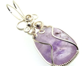 Amethyst Wire Wrapped Crystal Gem Pendant Design 11