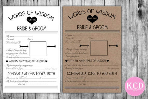 Advice For The Bride And Groom Card (10)