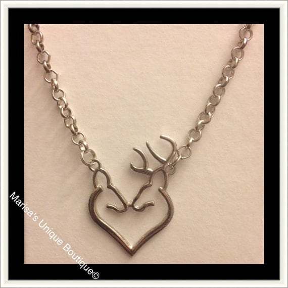 items similar to buck and doe necklace on etsy