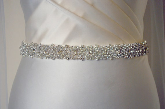 embellished belt all around bridal belt by magnificencebridal