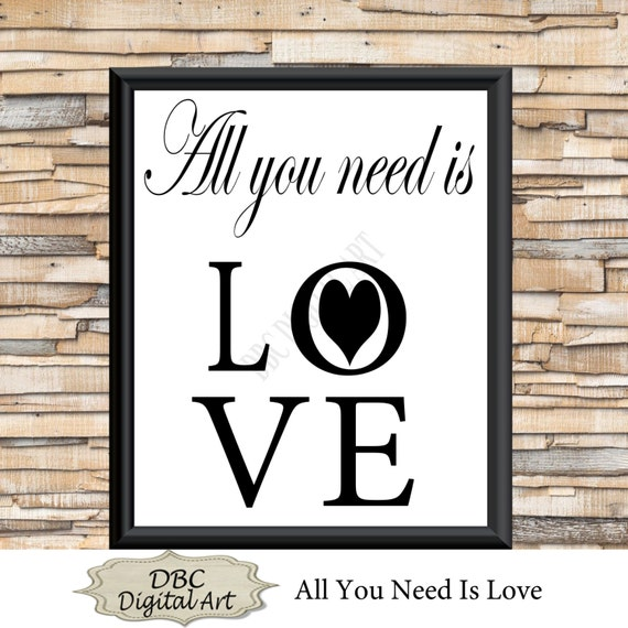 Wall Decor All You Need Is Love : Items similar to love wall art heart all you