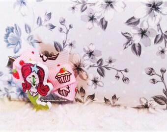 Mermaid Cupcake Strawberrie Bow PinUp Rockabilly Hair Clip