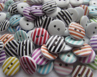 Candy Stripe Buttons