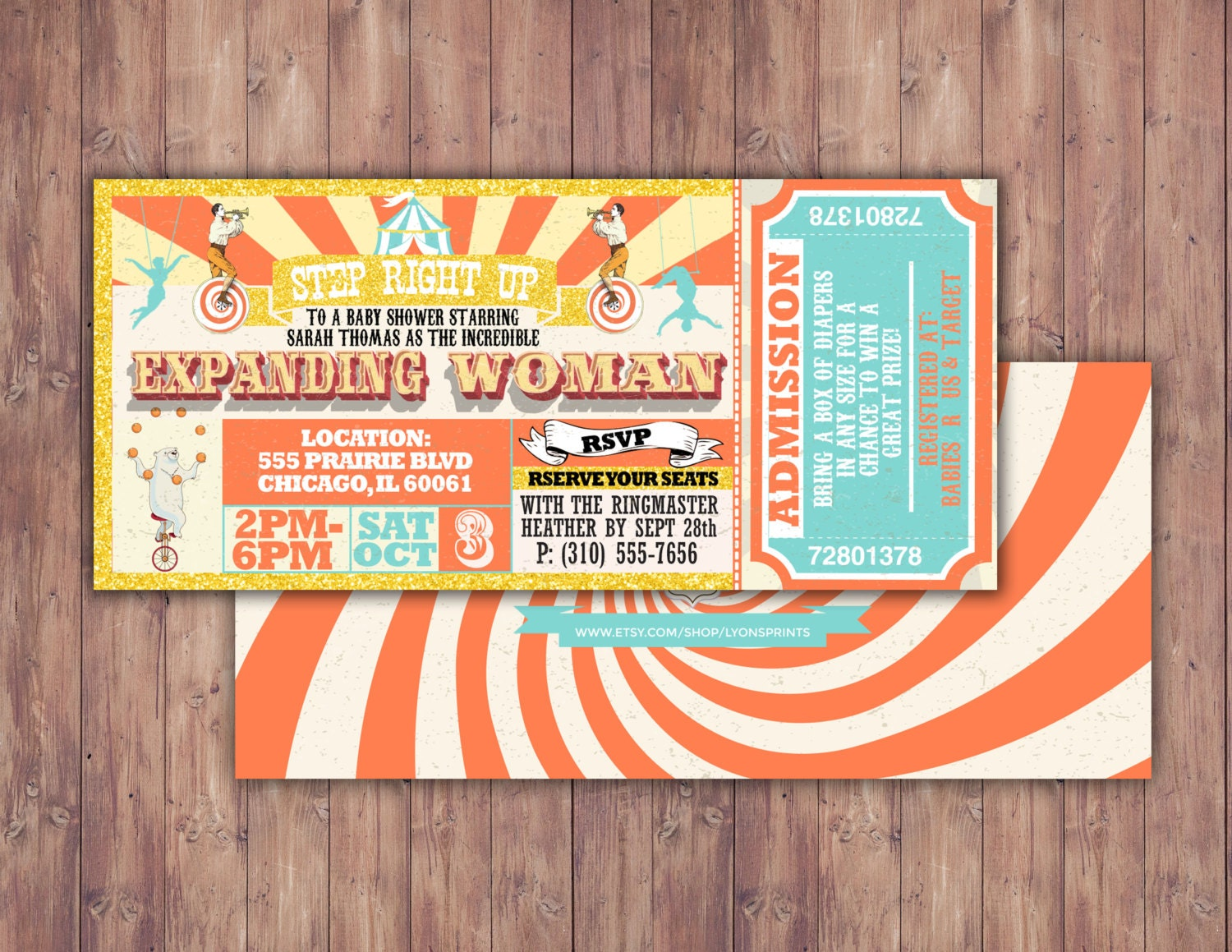 circus baby shower invitation carnival baby shower by lyonsprints