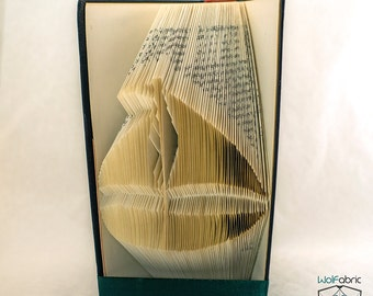 Book folding Pattern for BOAT - Ship - Sailing - Sail Boat - Nautical - Unique - Pattern - DIY -T75-205