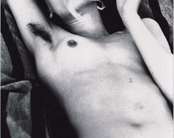 Handsigned photo by Helmut Newton - Violetta Sanchez - Paris -1979