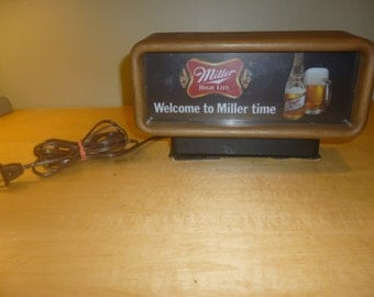 Vintage Miller High Life Lighted Bar Sign