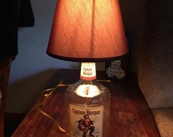 "Liquor bottle lamp "" Captain Morgan lamp"""