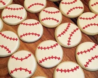 Baseball Sugar Cookies (12)