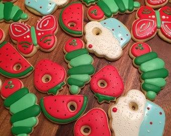 Hungry Caterpillar Sugar Cookies (12)