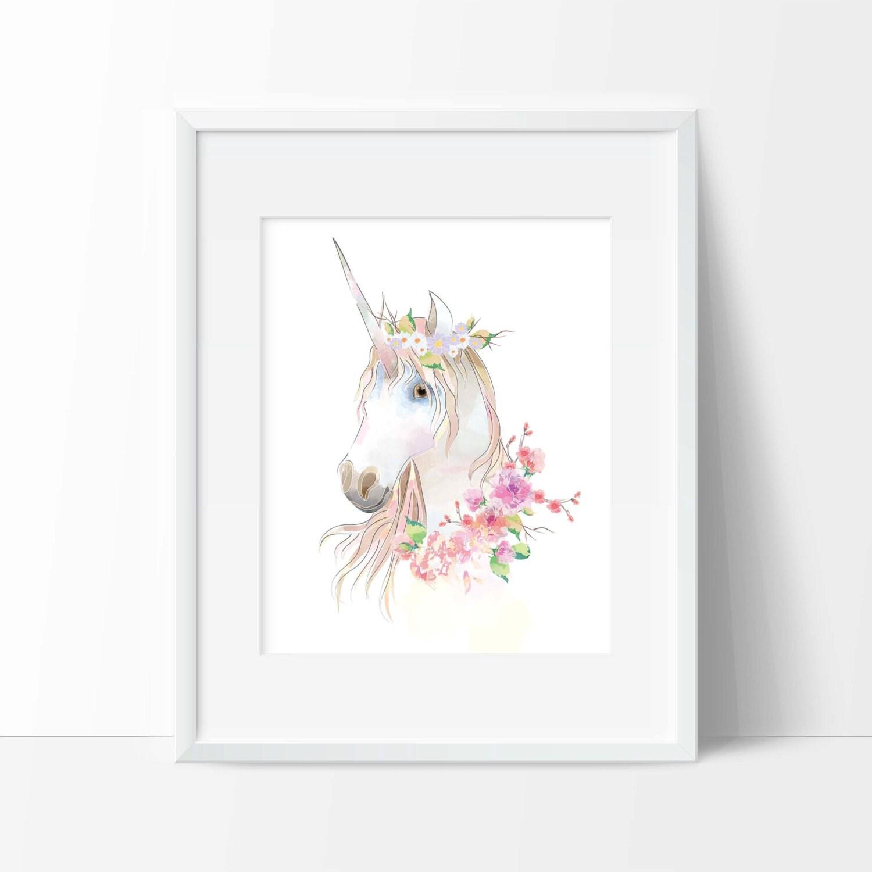Unicorn Art Print Wall Art Animal Decor Office Decor