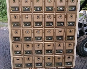 Old World Post Office Boxes (30 drawer unit)